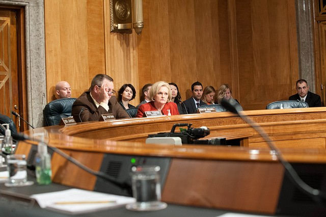 Claire McCaskill at the hearing yesterday. - VIA FLICKR