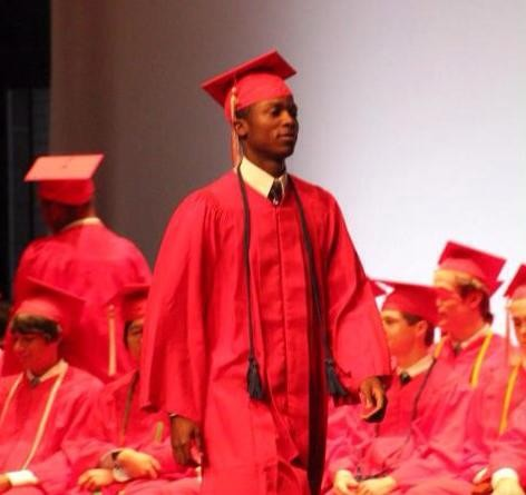 Damonte Johnson graduating from Chaminade College Prep - COURTESY OF THE DAMONTE JOHNSON