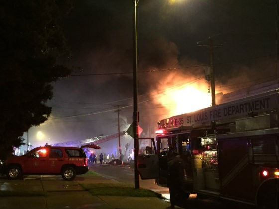 More than 100 firefighters responded to the scene. - PHOTO BY JAIME LEES