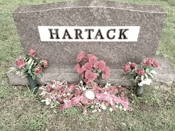 Bill Hartack's grave. - BILL CHRISTINE