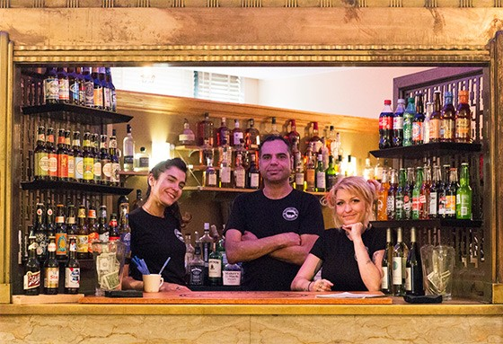 The staff behind the bar at Capitalist Pig.