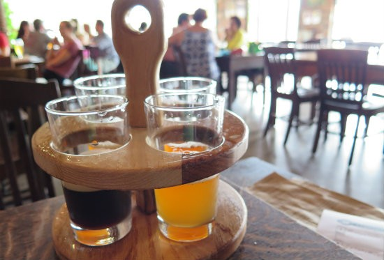 Flight at Urban Chestnut Biergarten