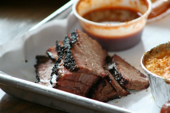 Brisket at Smoque BBQ in Chicago - JOHNNY FUGITT