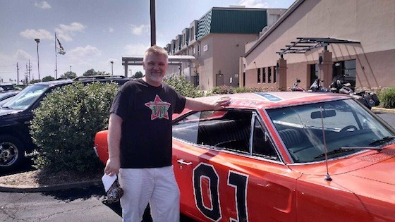 Ken McCray poses with the General Lee - COURTESY OF KEN MCCRAY