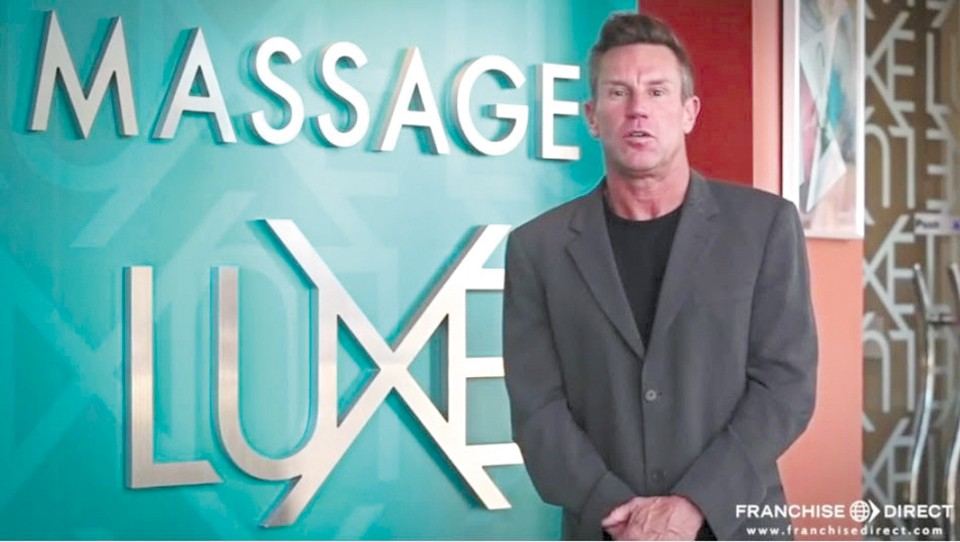 Todd Beckman appears in a promotional video for MassageLuXe, one of the multiple brands he built into successful franchises. - YOUTUBE.COM