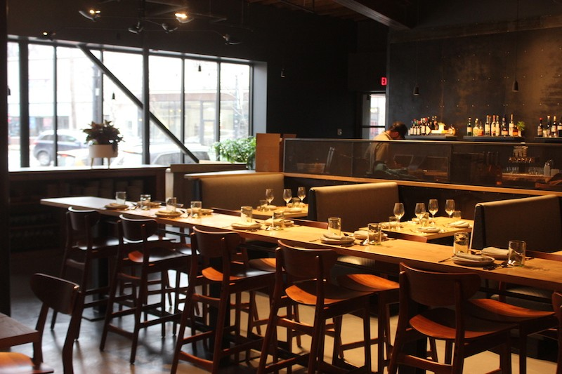 Elmwood features a long communal table, in addition to more traditional seating. - SARAH FENSKE
