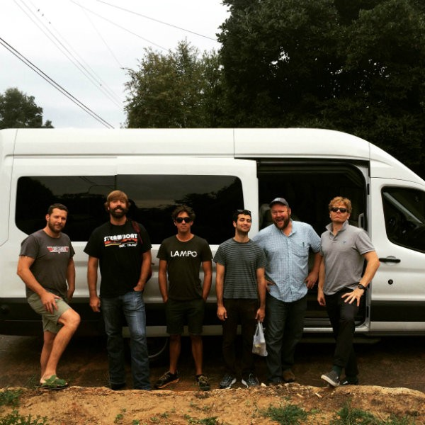 The members of Love Canon on August 31, just as it was embarking on its tour. - COURTESY OF LOVE CANON