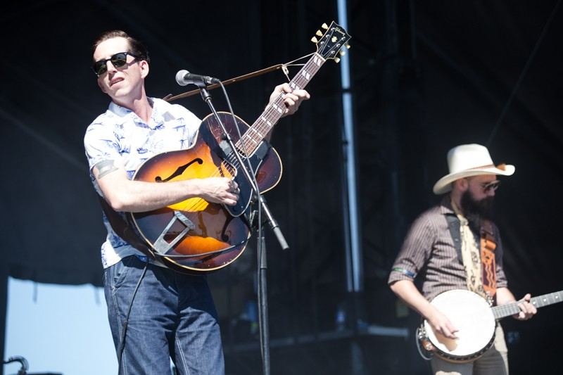Pokey LaFarge took the Bud Light stage on Sunday with his trademark, Americana throwback sound. - ROBERT ROHE