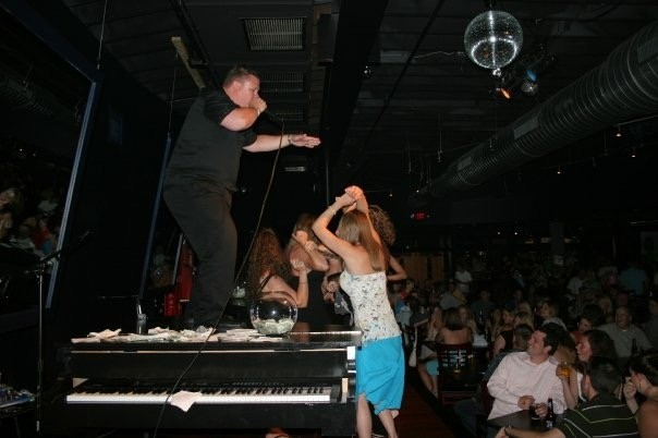 Phil Manaois works his dueling piano magic. - PHOTO COURTESY OF SPANKY ENTERTAINMENT