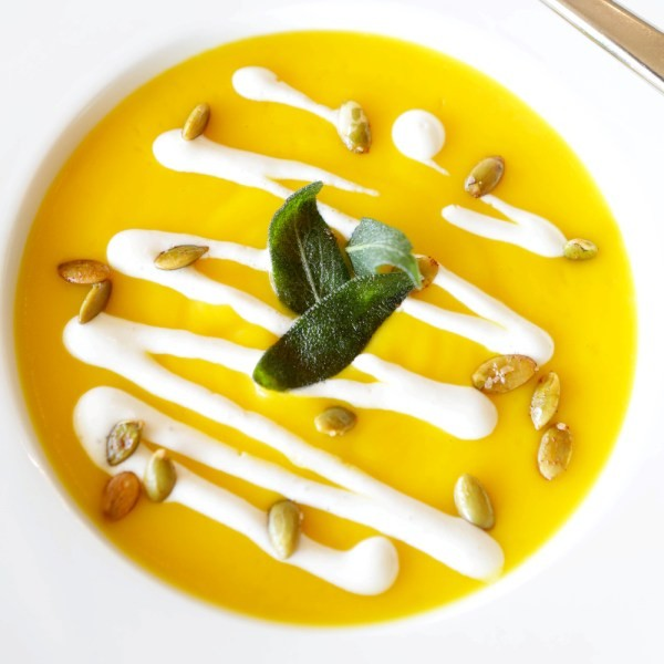 BUTTERNUT SQUASH SOUP AT CIELO | LAWRENCE BRYANT