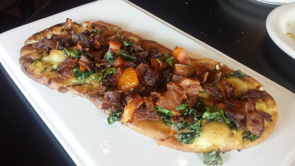 Brickyard's flatbread. - PHOTO BY SAMANTHA DEVER