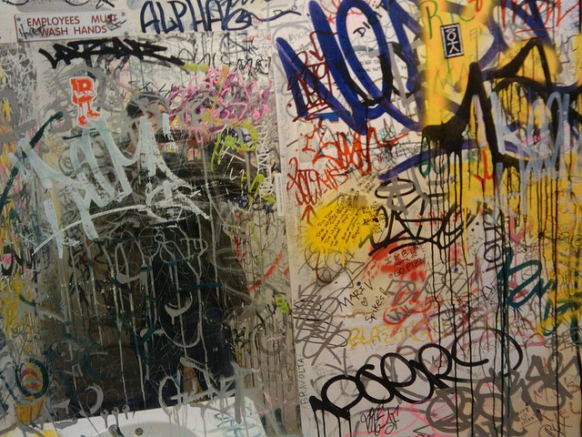 Racists, please don't smear your shitty opinions on bathroom walls. That would be great. - VIA FLICKR