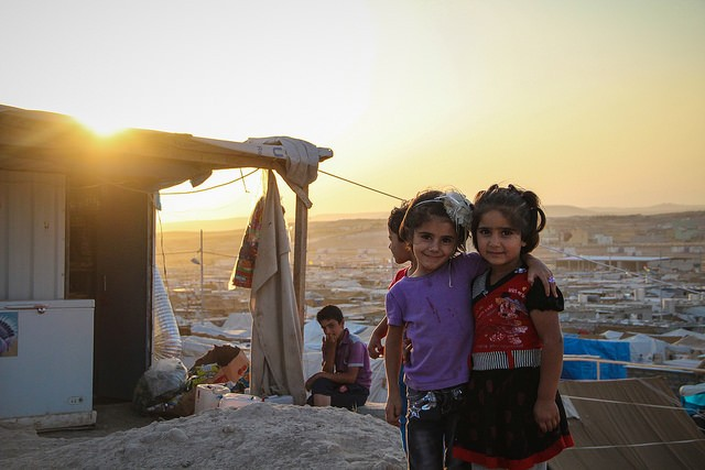 Syrian refugees at the Domiz Refugee Camp in northern Iraq. - PHOTO COURTESY OF FLICKR/EUROPEAN COMMISSION DG ECHO