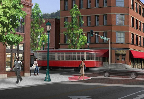 The Loop Trolley is slated to open in 2016. - PRESS ILLUSTRATION