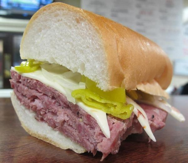 The hot salami at Gioia's - PHOTO BY MINDEE ZERVAS