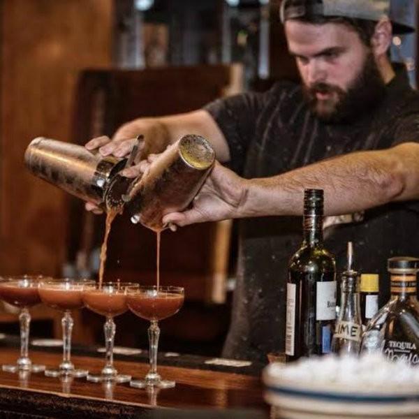 Matthew Koch mans the bar at Sanctuaria.