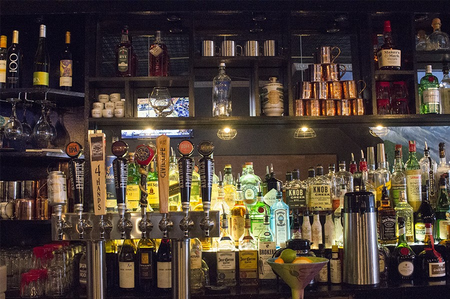 The bar at Brickyard Tavern - PHOTO BY MABEL SUEN