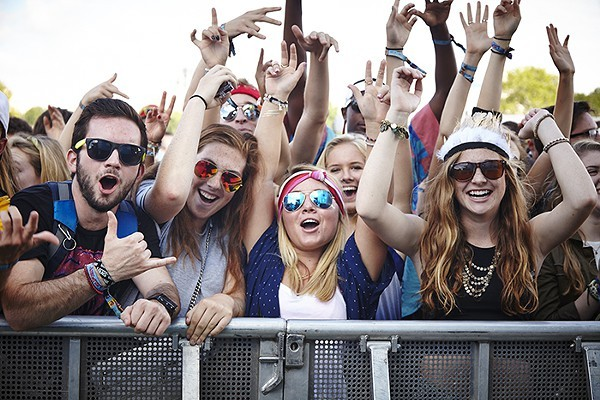 Excited fans at last year's LouFest. - PHOTO BY STEVE TRUESDELL