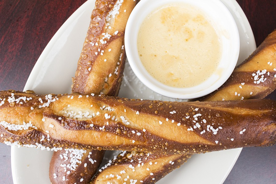 Pretzels with beer cheese sauce. - PHOTO BY MABEL SUEN