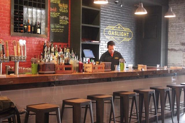 The bar at Gaslight STL serves craft cocktails. - PHOTO BY SARAH FENSKE