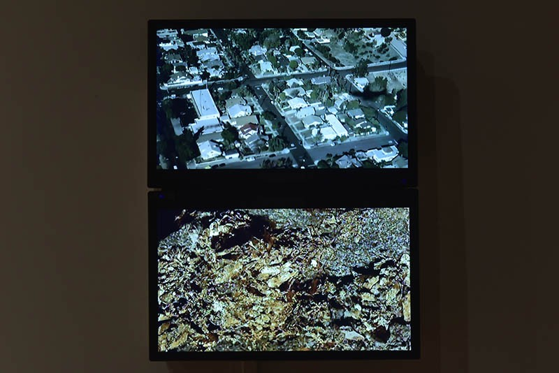 Michael Powell's 2016 digital video Pyrite, Gold is now on display at the Des Lee.
