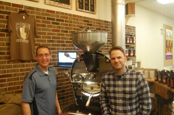 Gio Sparks (left) and Jamie Jeschke, co-founders of La Cosecha Coffee Roasters. - HARLAN MCCARTHY
