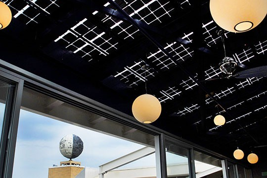 solar roof at eclipse photo courtesy of eclipse - Raised Panel Restaurant 2016