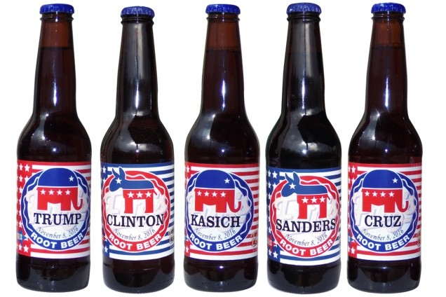 Fitz's is offering customers the chance to show their support for their respective candidate this election season by purchasing limited edition, specially labeled bottles. - COURTESY OF FITZ'S