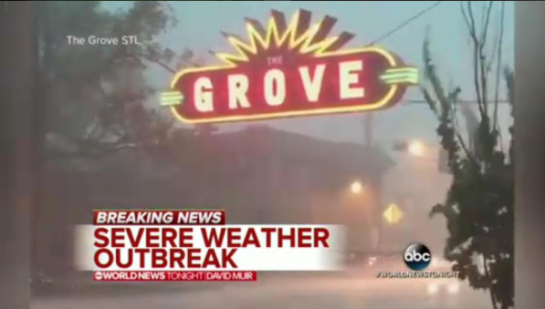The Grove made it on ABC World News Tonight, too. - PHOTO COURTESY OF INSTAGRAM / THEGROVESTL