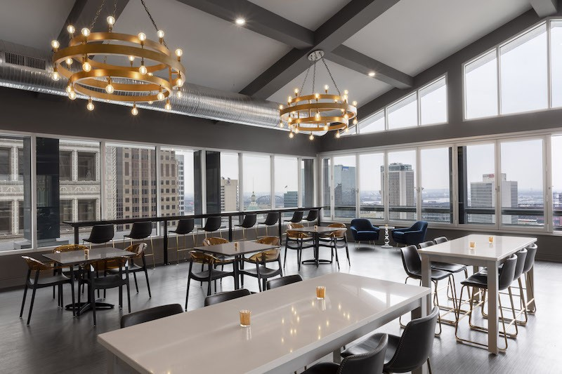 Form Skybar soars sixteen floors above downtown St. Louis in the Hotel Saint Louis. - COURTESY OF FORM SKYBAR