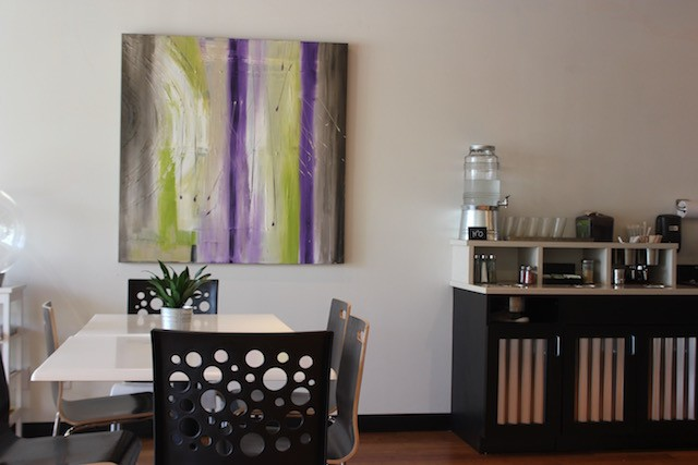 The paintings are all by co-owner Audrey Faulstich, who is also a registered nurse. - PHOTO BY SARAH FENSKE