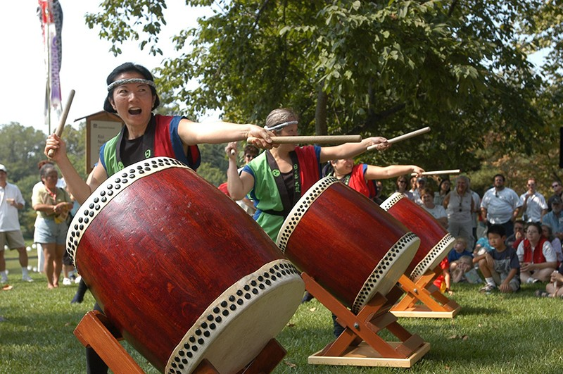 Taiko drummers at the Japanese Festival. - PHOTO COURTESY OF MISSOURI BOTANICAL GARDEN