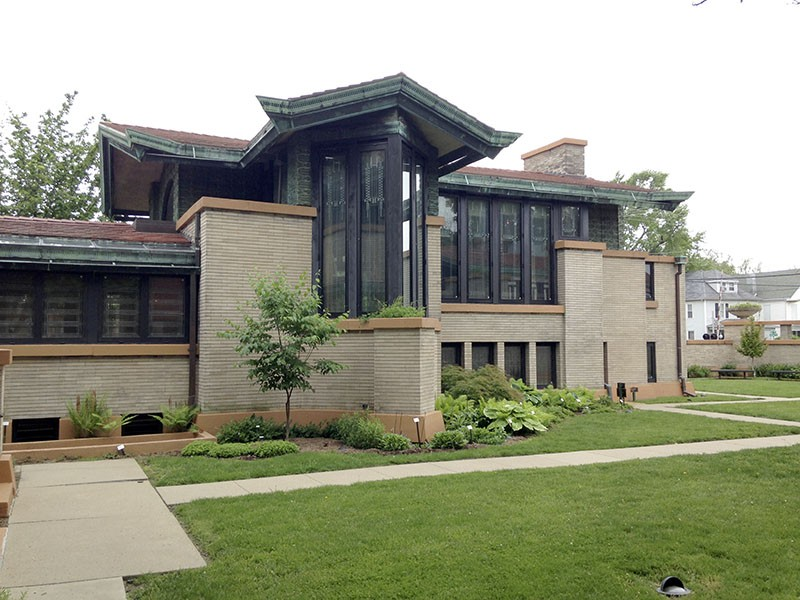 Frank Lloyd Wright designed the Dana-Thomas House for one of Springfield's top socialites. - PHOTO BY DOYLE MURPHY