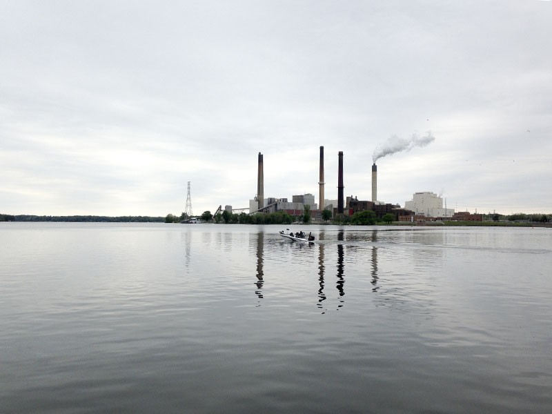 Even the city power plant looks picturesque from the shore of Lake Springfield. - PHOTO BY DOYLE MURPHY