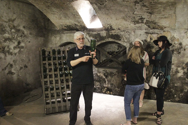During the complimentary tour at Stone Hill Winery, you'll learn about wine production, how the winery came to be, and more. - PHOTO BY MARK SEMKO