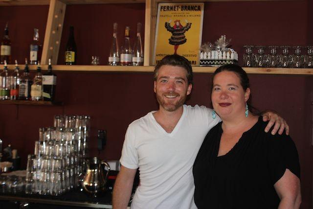 Manager Tim McAndrew with bartender Lisa Souders. - PHOTO BY SARAH FENSKE