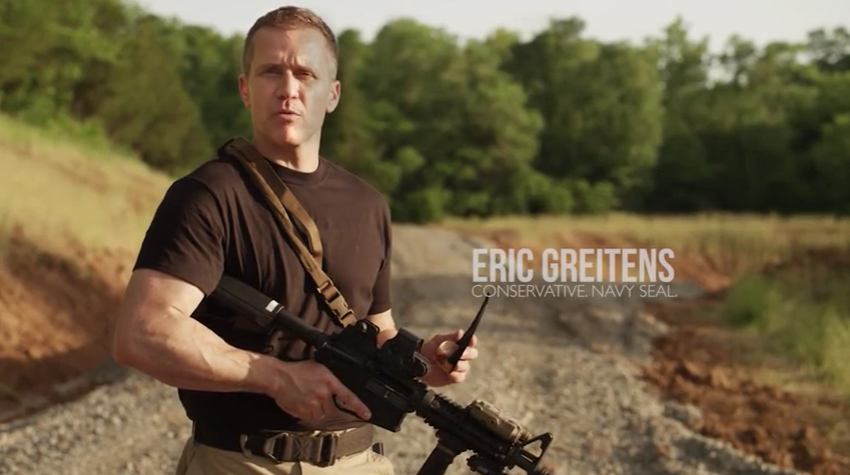 Eric Greitens, Conservative, Navy Seal, Muscle Man, Governor? - VIA YOUTUBE