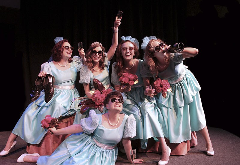 Stray Dog Theatre's newest show is about the difficulties of being a bridesmaid. - PHOTO BY JUSTIN BEEN