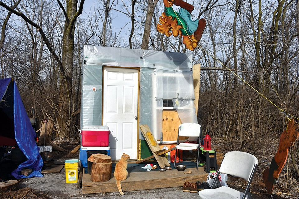 After an East St. Louis Homeless Camp Is Evicted, the 'Houseless' Seek a Home of Their Own