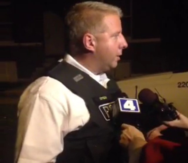 St. Louis police Chief Sam Dotson details Wednesday night's double homicide in the Gravois Park neighborhood. - IMAGE VIA PERISCOPE