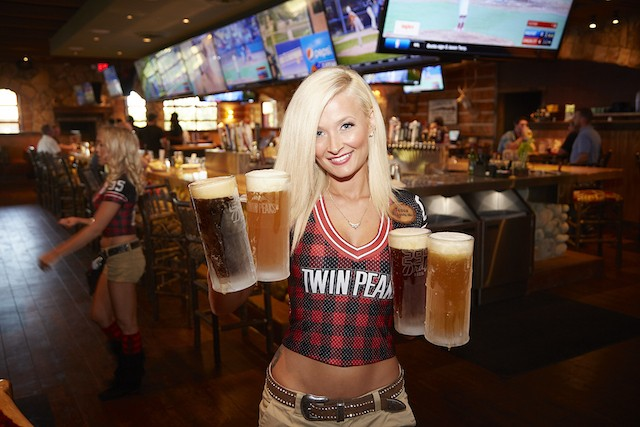 Click To Enlarge Twin Peaks Is Known For Its Comely Servers And Ice Cold Beer Photo