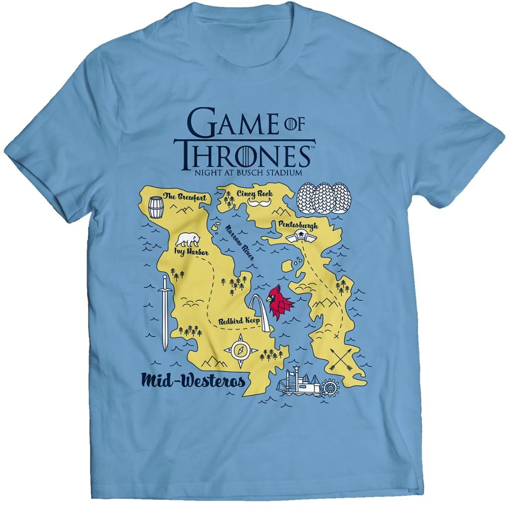0874209e689 Cardinals Game of Thrones Theme Night Includes an Awesome T-Shirt ...