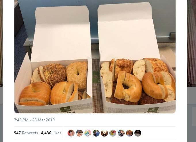 Louis-style sliced bagel prompts internet outrage