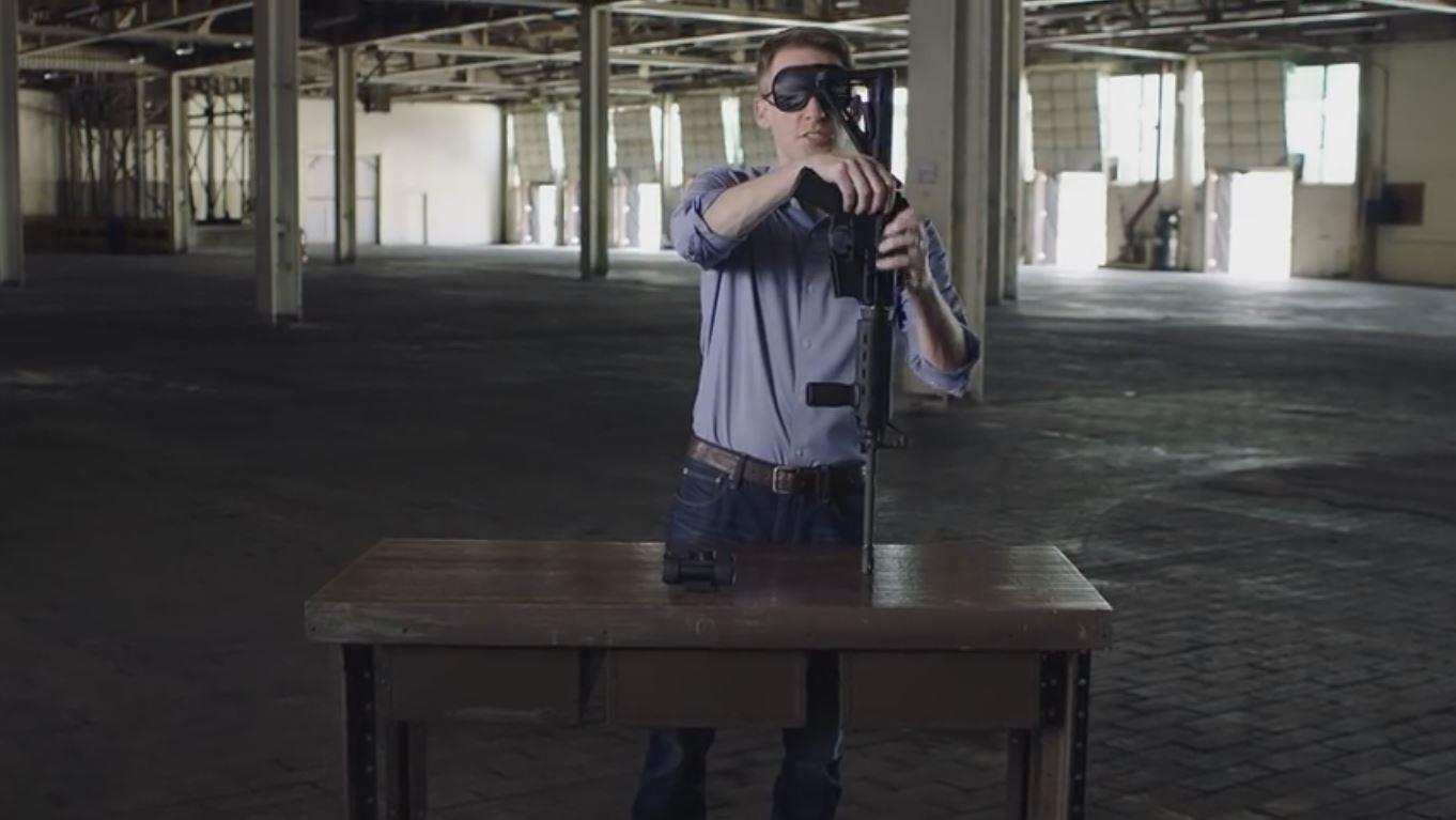 Missouri Senate candidate assembles gun blindfolded in TV ad