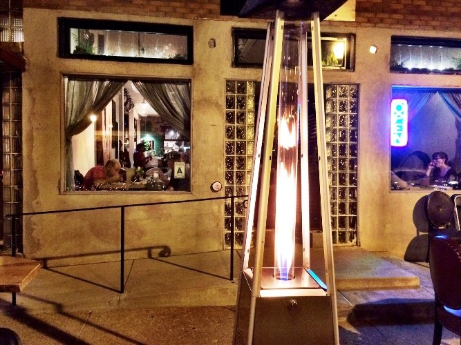 FIRE ON THE FRONT PATIO | SARA GRAHAM