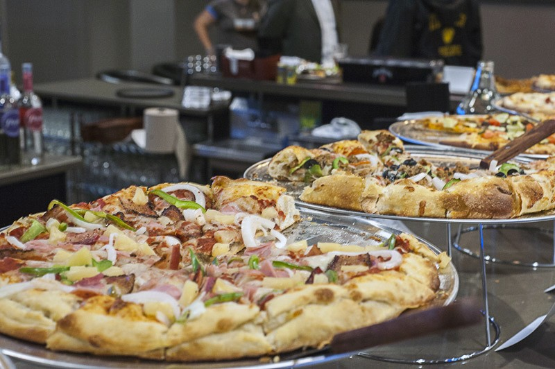 """""""The Oasis"""" includes ham, bacon, onion, green pepper and pineapple. - PHOTO BY KELLY GLUECK"""