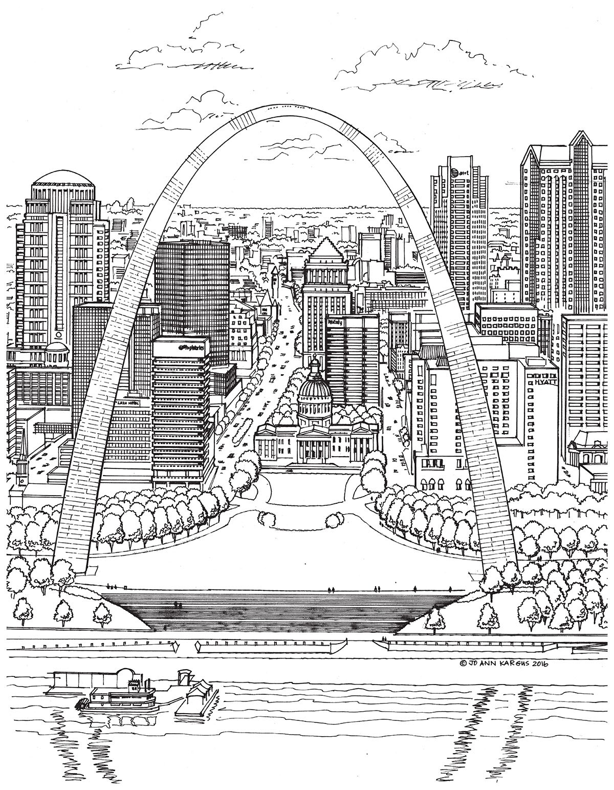 New Adult Coloring Book Shows The Beauty Of St Louis Architecture Arts Blog