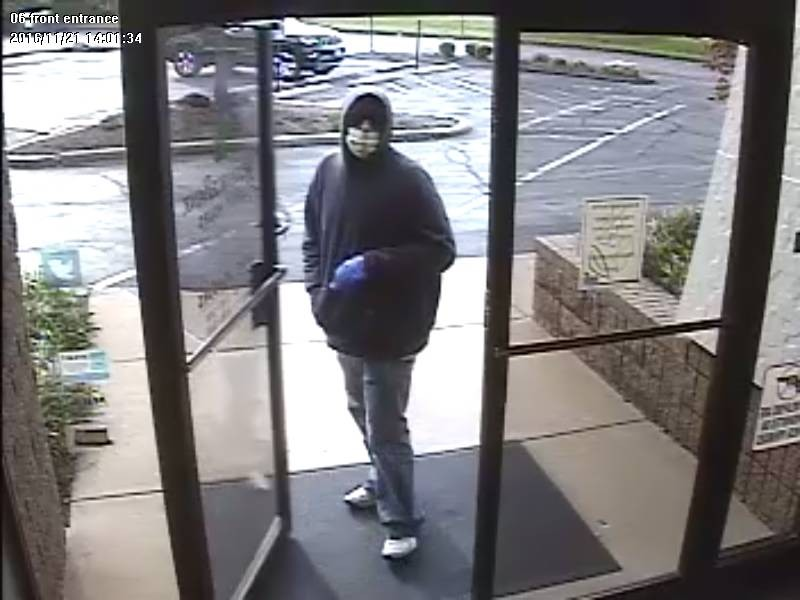 A band robber was caught on camera on Monday at Reliance Bank in Fenton. - IMAGE VIA ST. LOUIS COUNTY POLICE