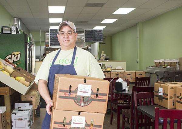 Robert Uyemura brings the CSA spirit to Local Chef Kitchen. - MABEL SUEN