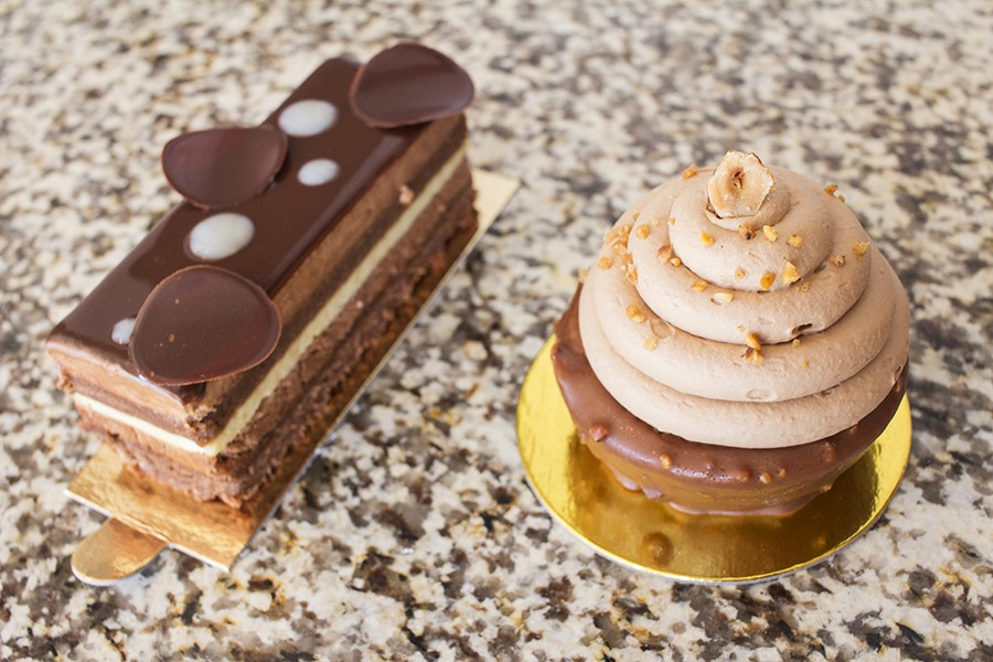 Chocolate-filled desserts aplenty await in the pastry case. - PHOTO BY MABEL SUEN